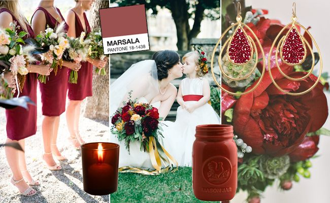 Pantone Color of the Year 2015 Is Marsala: See 12 Ways to Use as a WeddingColor. Something to work with for 2015 designs. What do you think of this color?