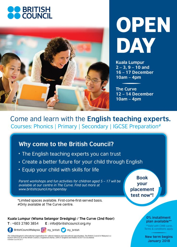 British Council Malaysia Open Day December 2017 ~ Parenting Times