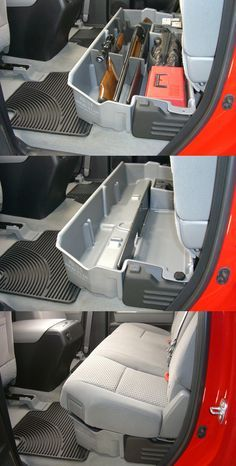 Under the seat truck storage. Great for stowing away guns, tools and toolboxes! Compatible with the Toyota Tundra and more.