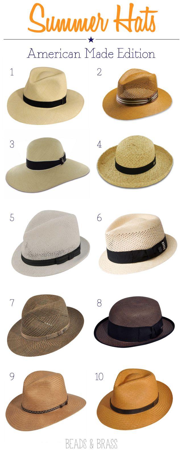 Summer Hats #madeinusa @Charlene Brown Gaines