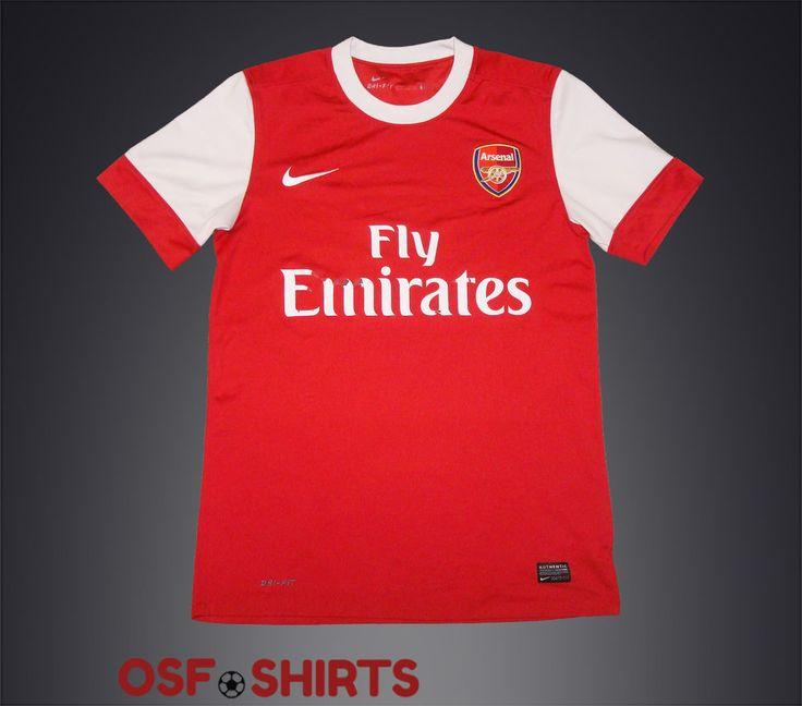 ARSENAL HOME 2010-2011 (S) Nike FOOTBALL SHIRT Jersey Maglia Camisa Mailot #Nike #Arsenal
