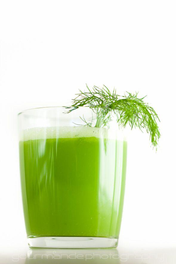 Green Lemonade (Fennel, Apple, Celery Juice) from @Sylvie | Gourmande in the Kitchen