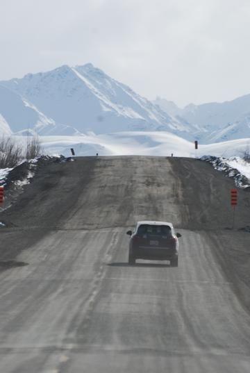 Alaska Highway, Yukon, just east of the Alaska border