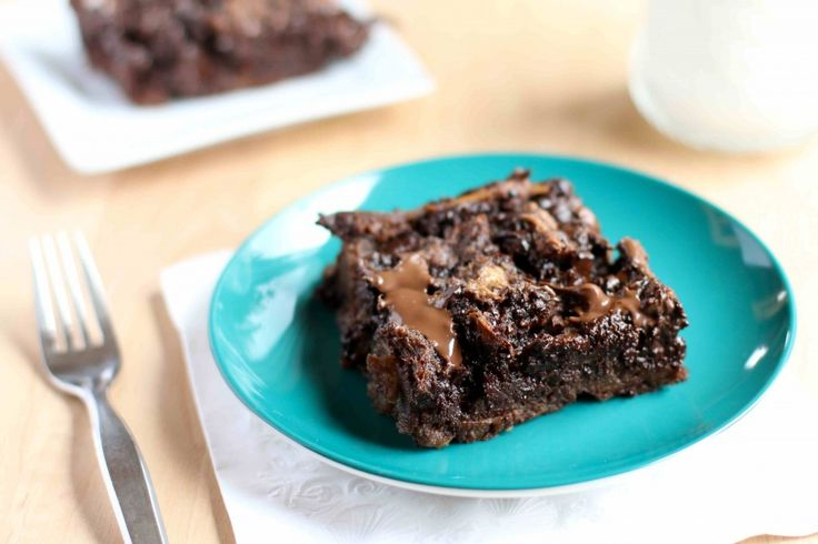 Chocolate Nutella Bread Pudding - I don't usually like bread pudding ...