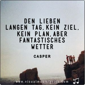 CASPER - GANZ SCHÖN OKAY - VISUAL SONG LYRICS -