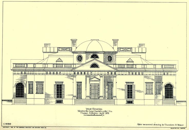 THE COLONIAL - archimaps:   The West side Elevation of...