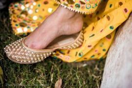 Wedding Shoes - Avneesh & Avni wedding story | WedMeGood #wedmegood #shoes #juttis