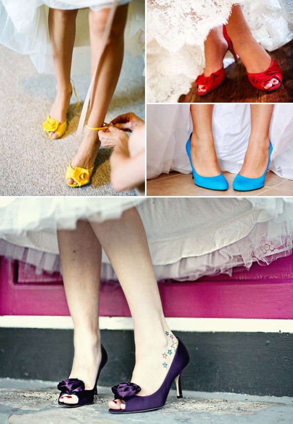 The Hottest Trend For Wedding Dress Of This Year Is Color So Does Shoes Colorful Gowns Match