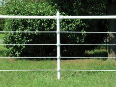 I like the pipe and cable fencing.  It is attractive with low maintenance.