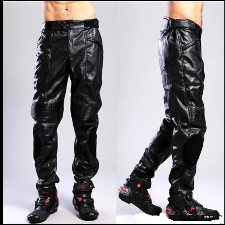 S-3XL HOT New Men's Brand PU Leather pants motorcycle riding pants men and women off-road waterproof trousers