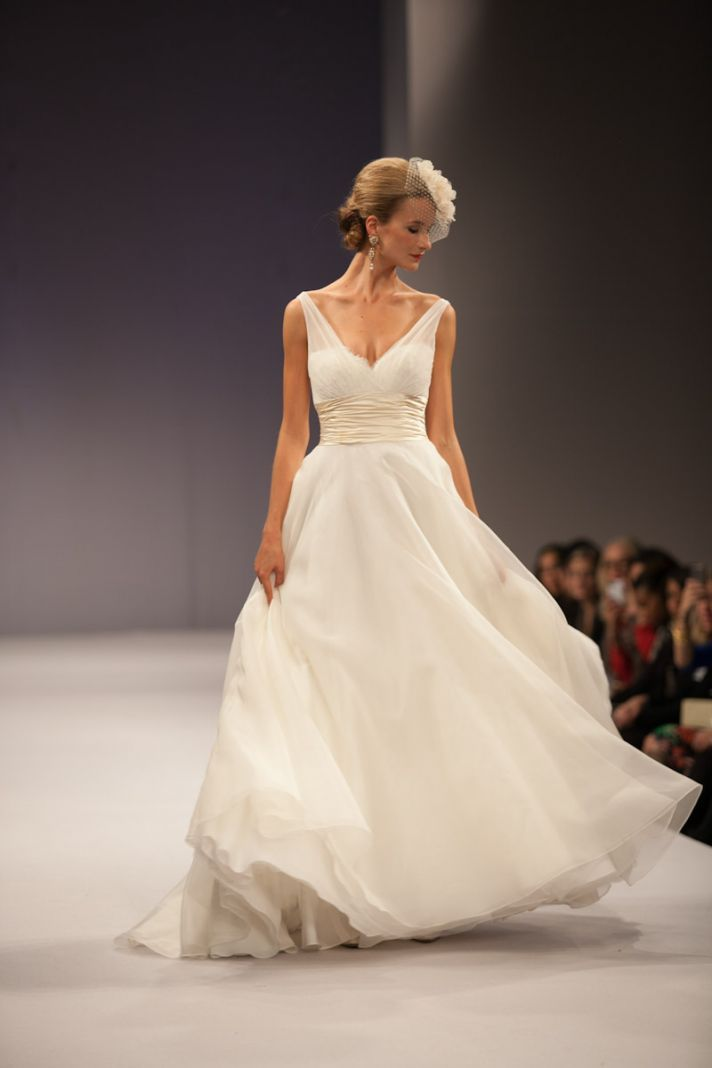 Anne Barge wedding dress Fall 2013 bridal Emmanuelle. Love but with capsleeves and a sweet hear neckline
