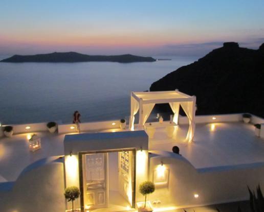 Santorini Sunset Terrace Wedding and Vineyard Reception........ughhh my dream!!! ill settle for having the honeymoon there