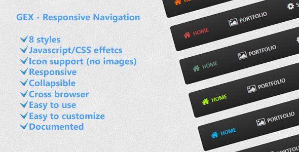 GEX - Responsive Navigation