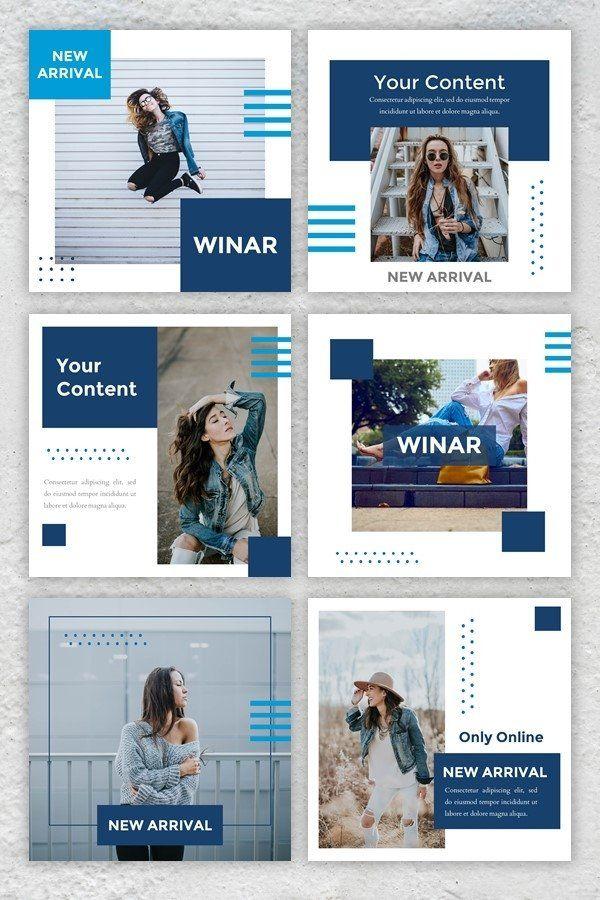 Instagram Feed Template Winar 721371 Instagram Design Bundles In 2021 Instagram Feed Layout Instagram Feed Theme Layout Instagram Design Layout