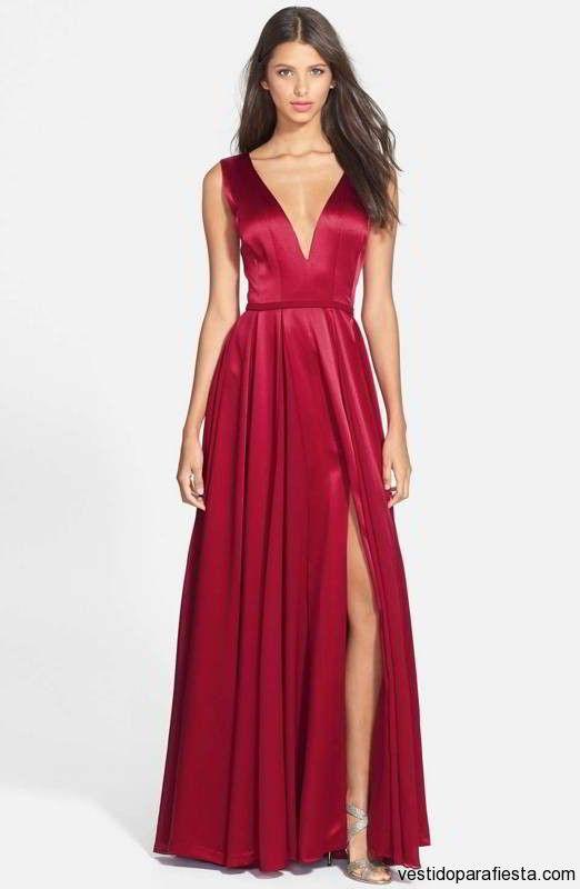 Vestidos largos color rojo para fiesta de fin de ano 2014 \u2013 110 , https