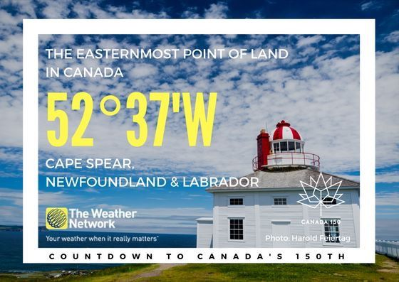 Cape Spear is home to the oldest surviving lighthouse in Newfoundland, a National Historic Site of Canada. Great  fact 103/150 #Canada150