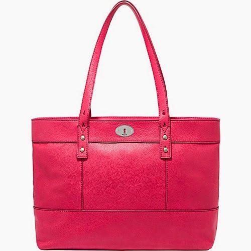 Tas Fossil Hunter Shopper-Flaminggo Pink  Menawarkan styling kemungkinan yang tak terbatas, fosil Hunter Shopper Tote membuat tas untuk hari...