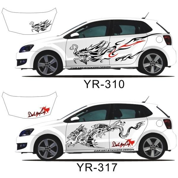 Decals For Your Car Fantastic Dragon Pattern Decorative Full