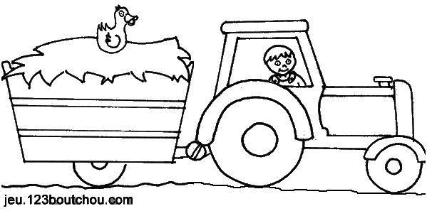 13 Authentique Coloriage Tracteur Avec Remorque Gallery