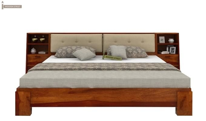 Bolivia Multi Storage Bed (King Size, Honey Finish)-2