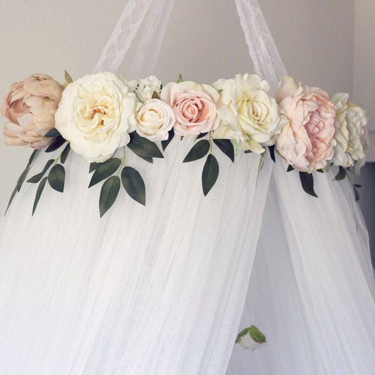 Crib canopy Crib mobile Floral crib canopy Floral crib mobile Floral nursery Nursery decor Shabby chic nursery Boho nursery Bohemian nursery Pink nursery Whimsical nursery Baby girl Baby girl nursery Nursery inspo Nursery ideas Nursery decor Roses Crib crown Bed canopy Teepee Floral teepee Reading nook Crib #shabbychicdecornursery