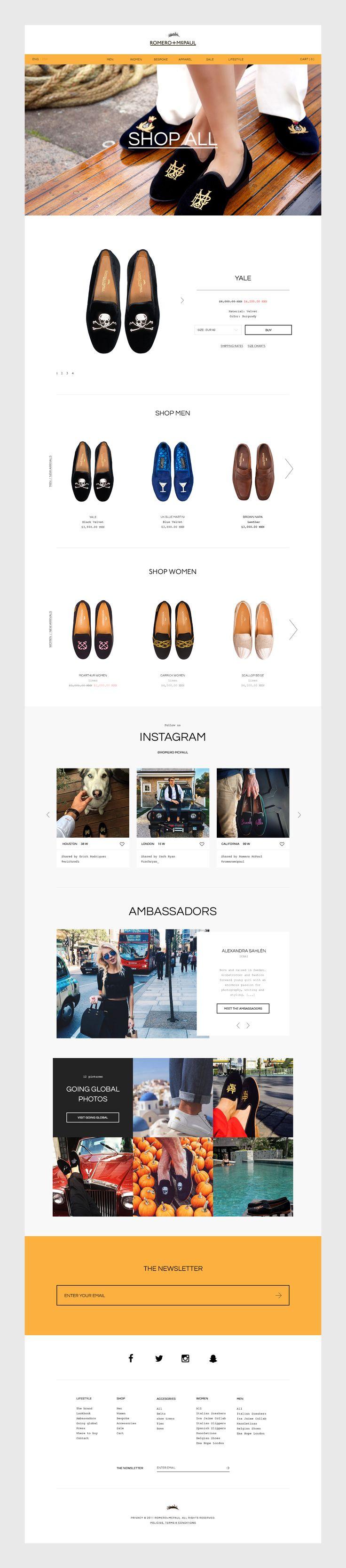 Romero McPaul Website on Behance