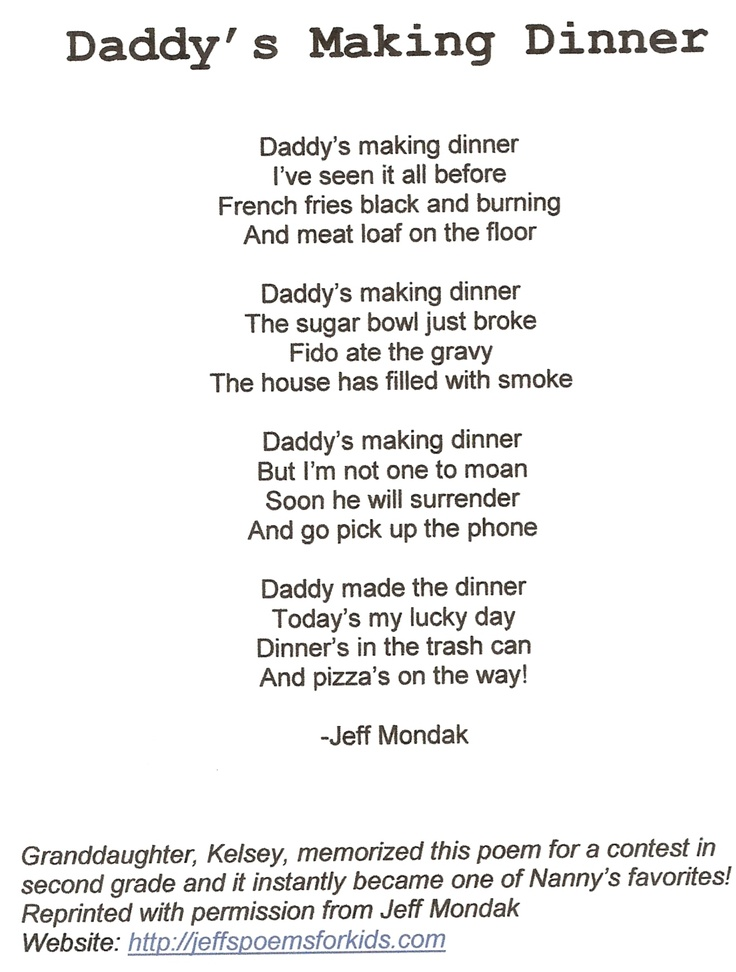 daddys poems