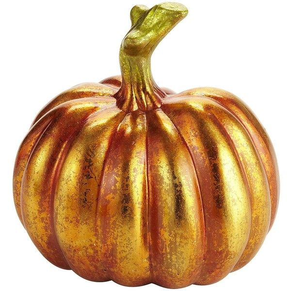 Pier One Metallic Pumpkin - Small ($7.95) ❤ liked on Polyvore
