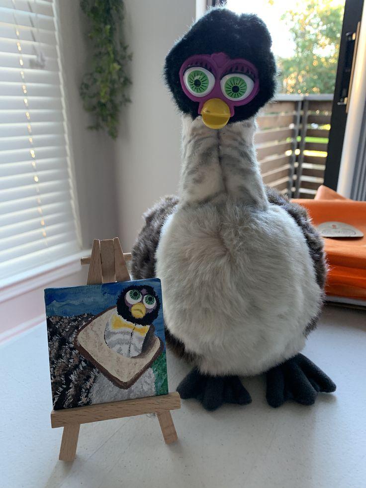 Furby Art, Furby Painting, Furby Etsy, Furby Paint, Custom