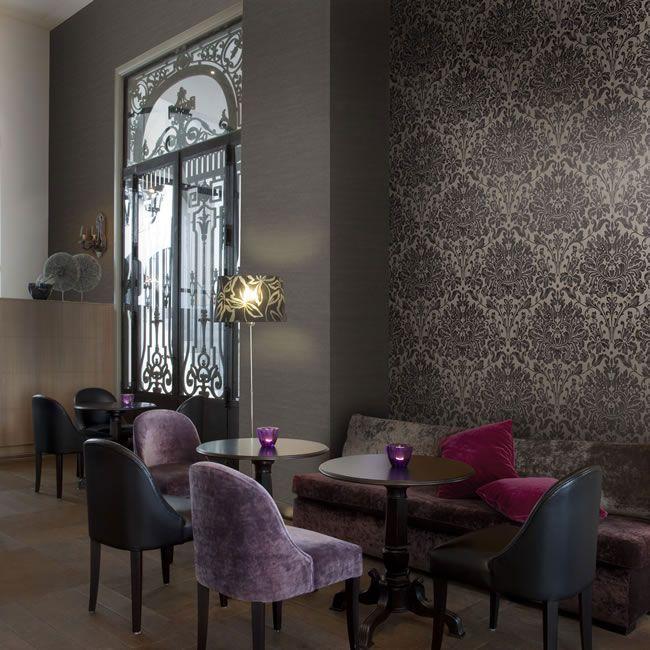 luxury wallcoverings Luxustapete 14 Textil Tapete Allure Farbe 80 braun beige Barock Tapeten online kaufen
