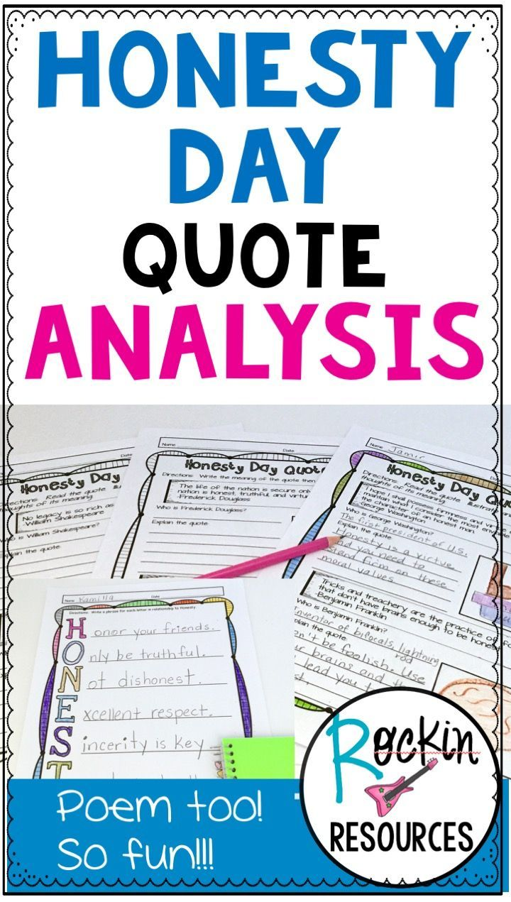 17 best ideas about poem analysis poetry lessons honesty day is on 30th this activity is perfect to celebrate honesy day