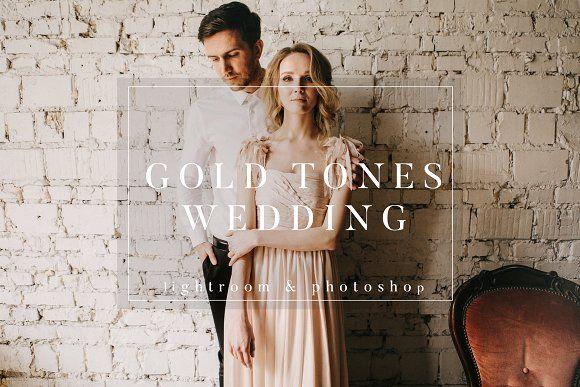 Gold Film Toned Wedding Presets by PhotographersHelper on @creativemarket /Volumes/Marketing/_MOM/Design Freebies/Creative Market Freebies/Gold-Film-Toned-Wedding-Presets