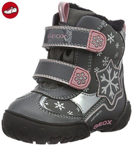 Geox Baby Mädchen B Gulp B Girl Abx C Stiefel, Grau (DK GREYC9002), 24 EU - Kinder sneaker und lauflernschuhe (*Partner-Link)