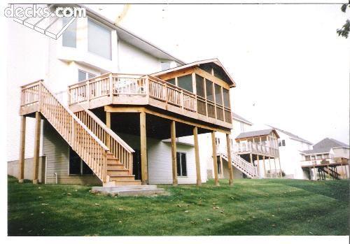 25 best high elevation decks images on pinterest cover for High elevation deck plans