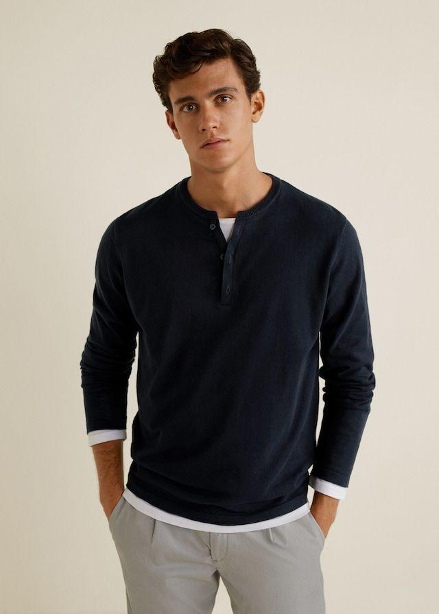 ffa388ead Jersey algodón cuello panadero - Camisetas de Hombre en 2019 ...