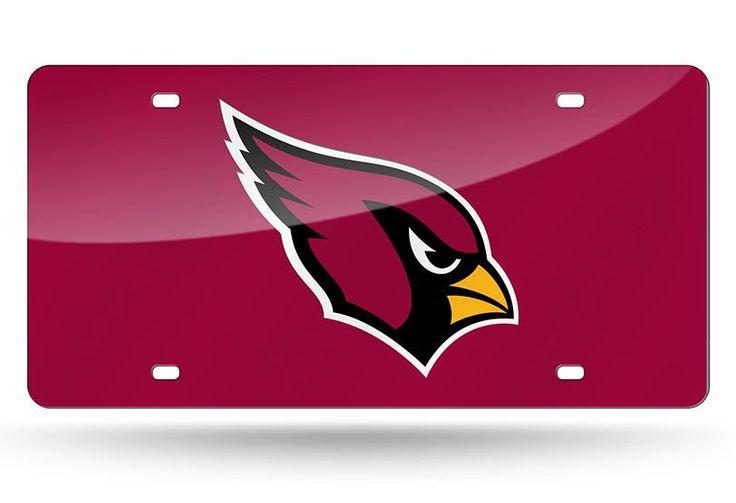 NFL Arizona Cardinals Laser License Plate Tag - Red