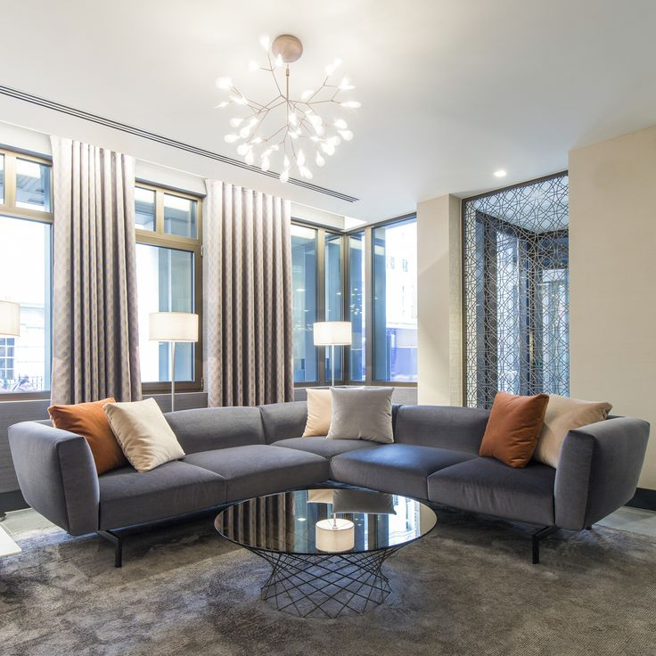 A Plush And Welcoming Reception Design With Rich Hues In This Landmark  Mayfair Building. Soft