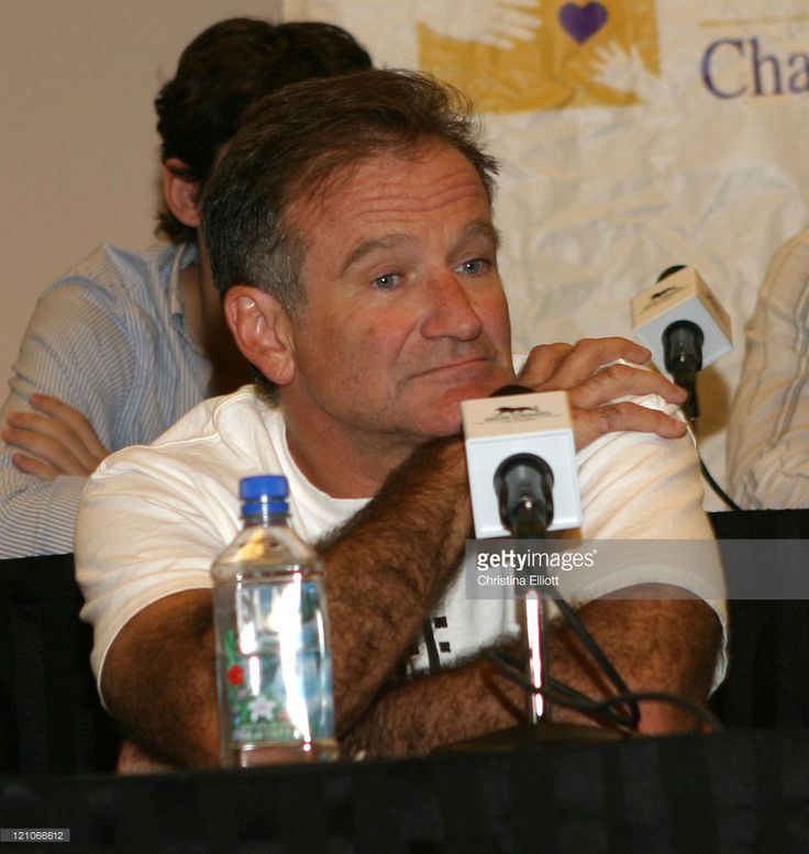 Robin Williams during Agassi Grand Slam for Children Benefit Concert Press Conference at MGM Grand Hotel and Casino in Las Vegas, Nevada, United States.