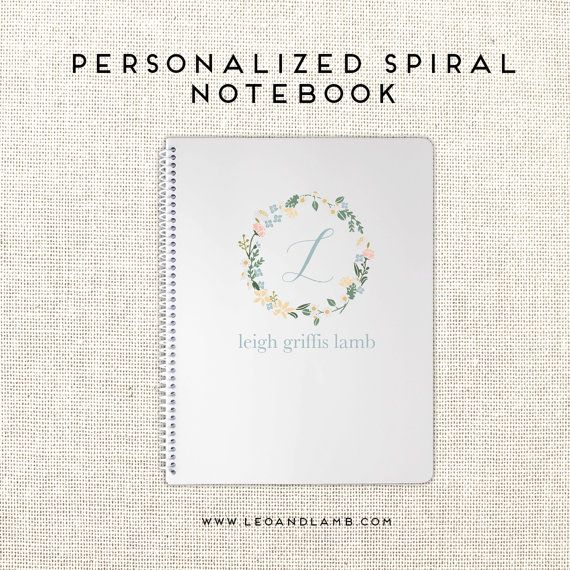 Personalized Spiral Notebook - Create your own cute notebook!