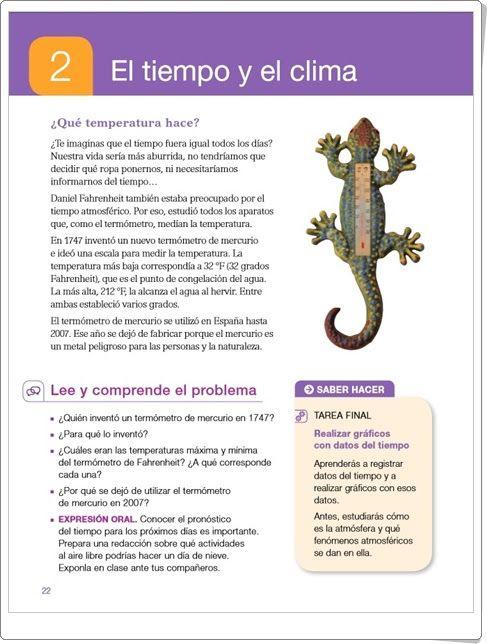 """Unidad 2 de Ciencias Sociales de 4º de Primaria: """"El tiempo y el clima"""""""