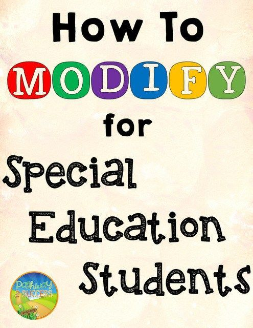 How to change for special education #andern #specific,