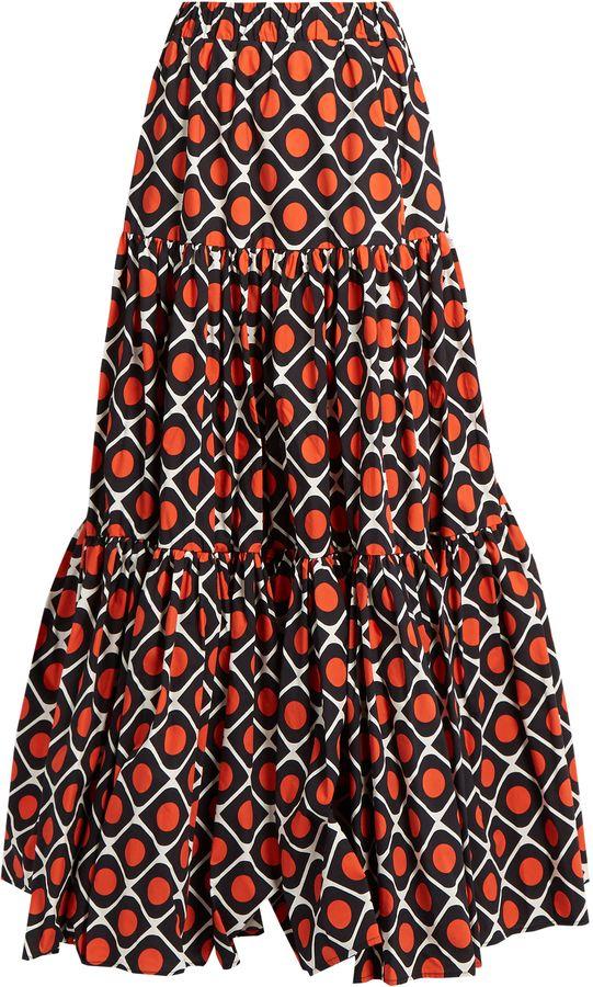 LA DOUBLEJ EDITIONS The Big gathered cotton maxi skirt