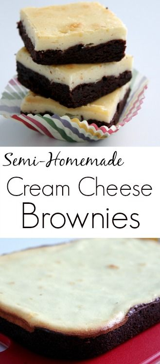 These cream cheese brownies are semi-homemade and taste like you've made them from scratch!