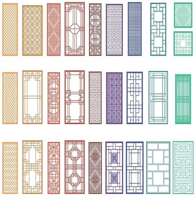 Chinese window patterns