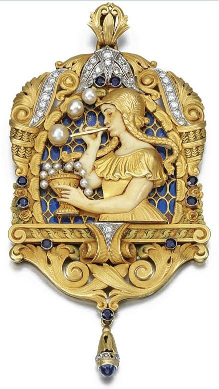 Amazing pendant from the 20's, showing a Girl Blowing Bubbles...