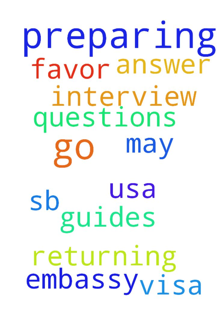 Please pray for me as i am preparing to go for my -  Please pray for me as i am preparing to go for my returning visa SB1 interview at USA Embassy. may our God guides me on how to answer the questions. i pray for the Gods favor to be upon me. Posted at: https://prayerrequest.com/t/Jz9 #pray #prayer #request #prayerrequest