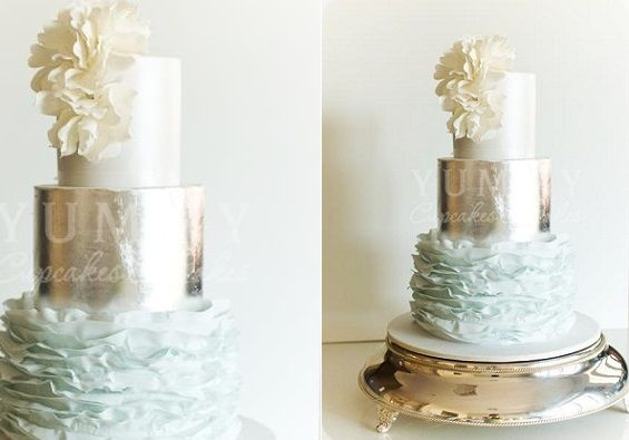 how to make a metallic cake