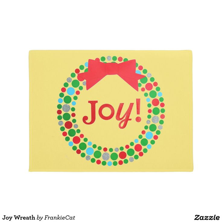 Joy Wreath Doormat