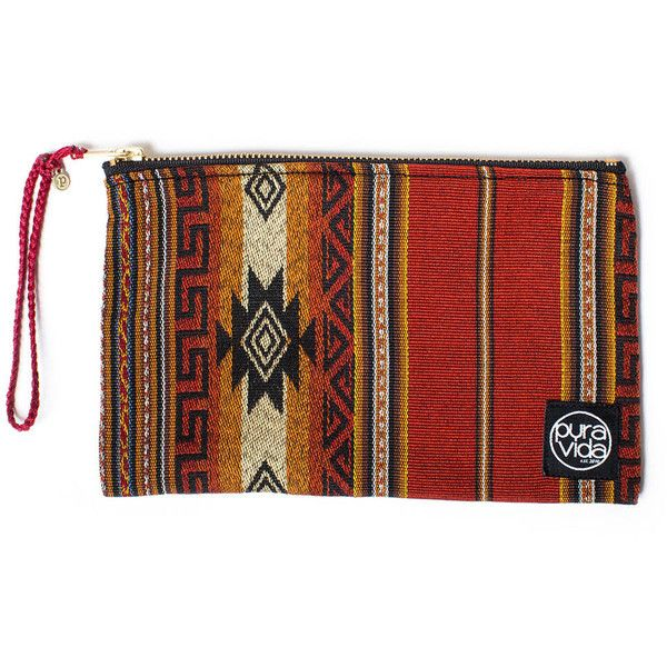 Pura Vida Bracelets Festival Bag - Aztec ($30) ❤ liked on Polyvore featuring bags, handbags, activewear, red bag, summer handbags, red handbags, summer purses and pura vida