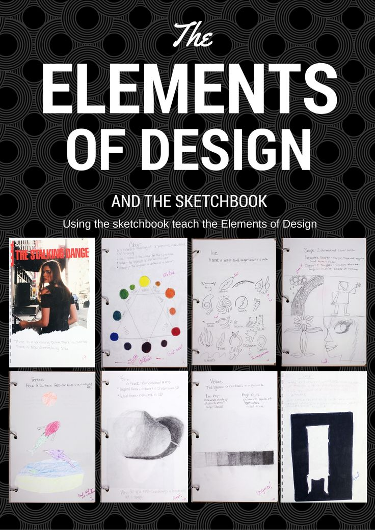 Elements Of Art And Examples : Using the sketchbook to teach elements of design art